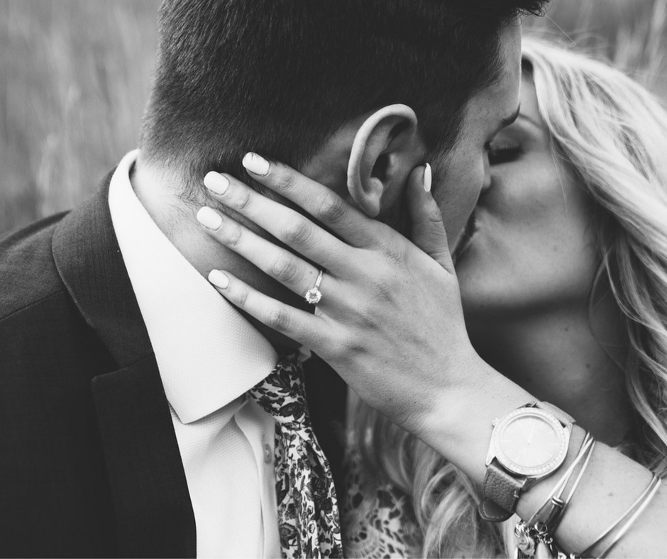 Bride and Groom Engagement Photo