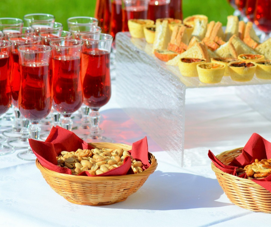 Assortment of Food and Drinks for Guests