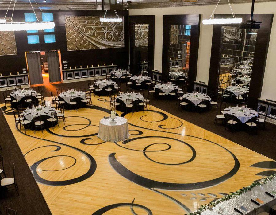 Wedding venue with a large dancefloor
